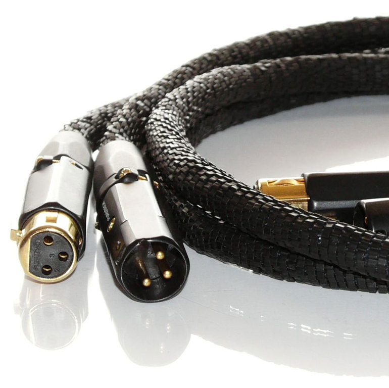 Emanation Audio Gold Reference Black XLR IC 1.1m