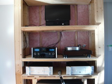 Bryston 7B3 ,Mcintosh C2300,OPPO UBP-205,cabinet in progress